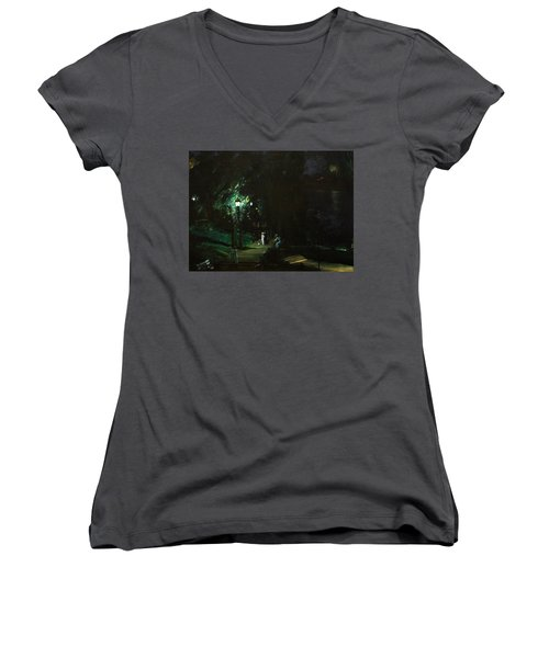 Summer Night Riverside Drive Women's V-Neck