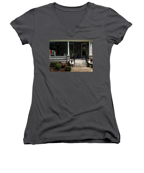 Summer Porch Women's V-Neck (Athletic Fit)