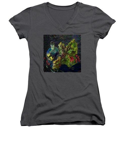 Summer Stillife Women's V-Neck T-Shirt (Junior Cut) by Vladimir Kholostykh