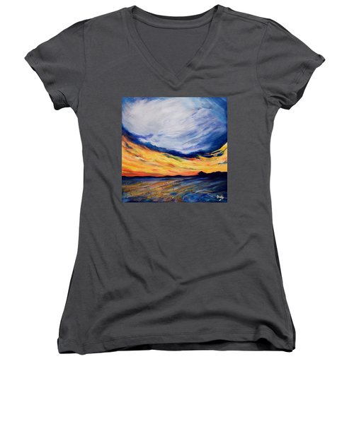 Summer Storm Women's V-Neck T-Shirt