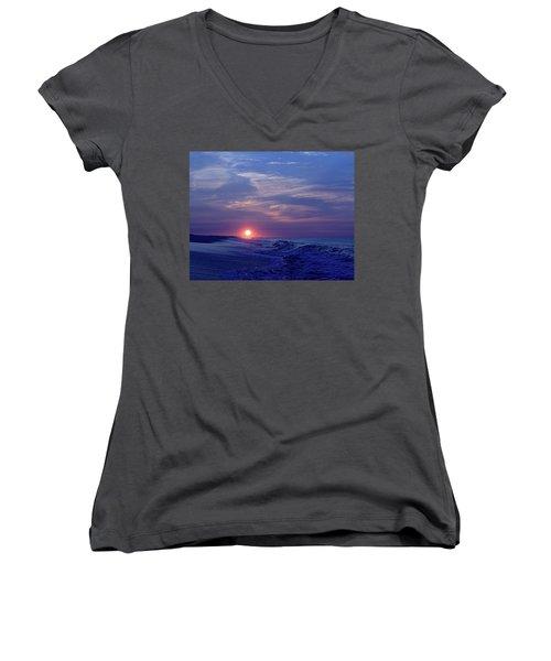 Summer Sunrise I I Women's V-Neck (Athletic Fit)