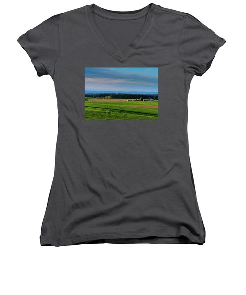 Summer Sunset Women's V-Neck (Athletic Fit)