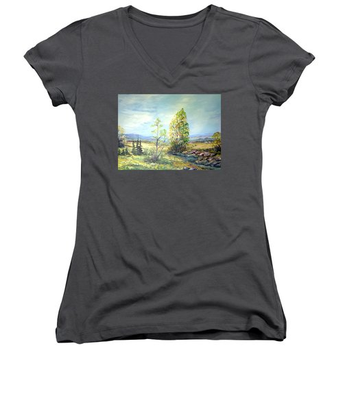 Summer Time Women's V-Neck T-Shirt