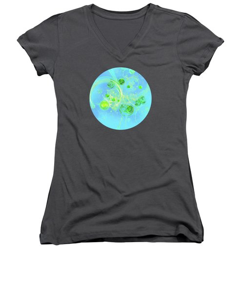 Summer Tree Of Life Women's V-Neck T-Shirt (Junior Cut) by Menega Sabidussi