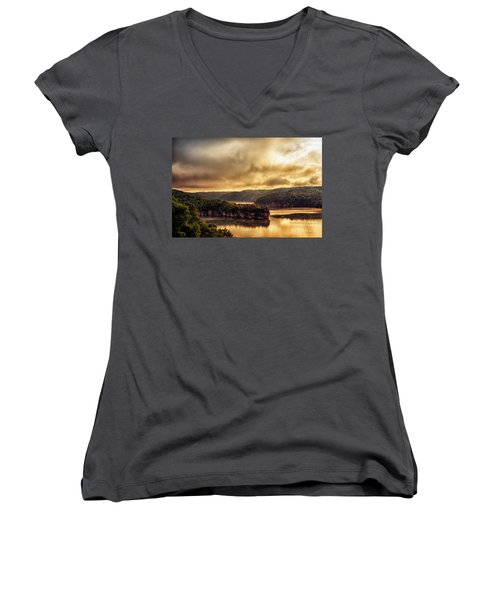 Summersville Lake At Daybreak Women's V-Neck T-Shirt