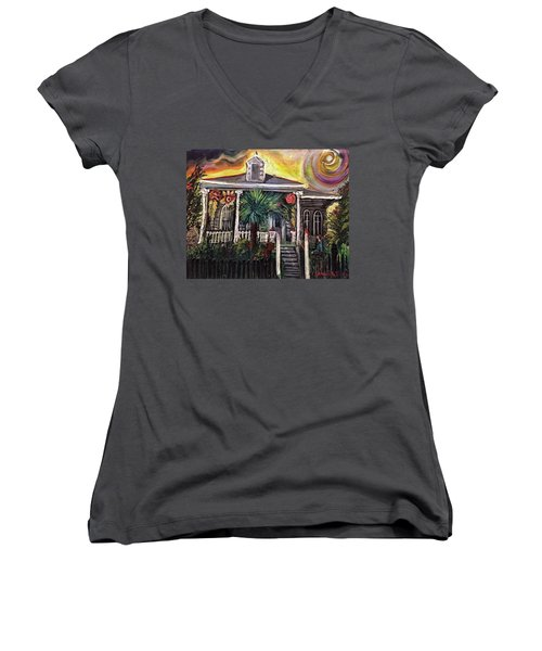 Summertime New Orleans Women's V-Neck