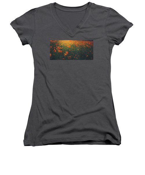 Women's V-Neck T-Shirt (Junior Cut) featuring the photograph Summertime by Shane Holsclaw