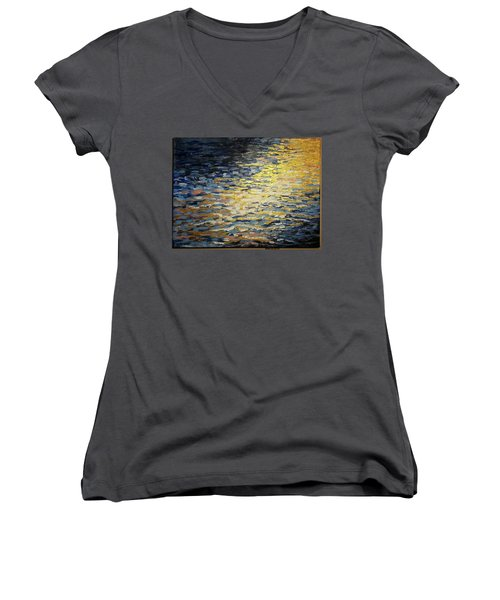 Sun And Wind On Water Women's V-Neck (Athletic Fit)