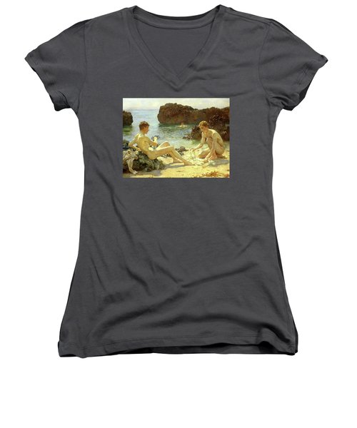 Sun Bathers Women's V-Neck T-Shirt