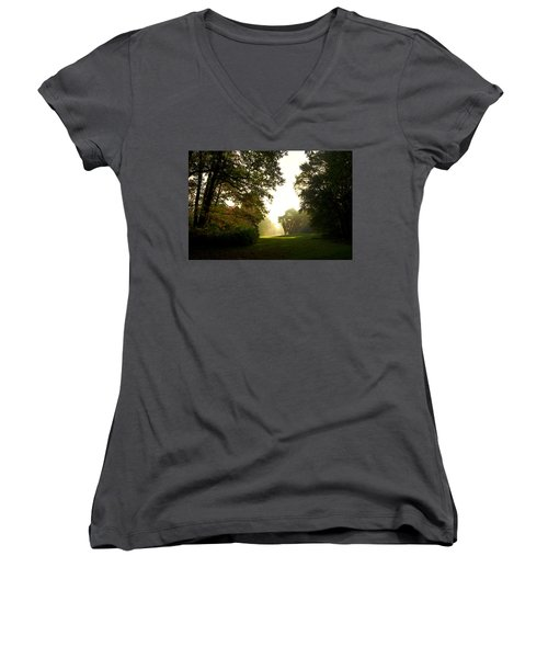 Sun Beams In The Distance Women's V-Neck