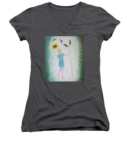 Sun Flower Dance Women's V-Neck T-Shirt