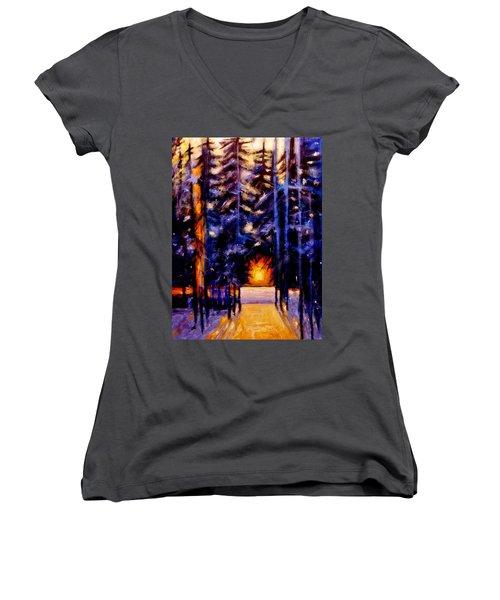Sun Kiss..2 Women's V-Neck T-Shirt
