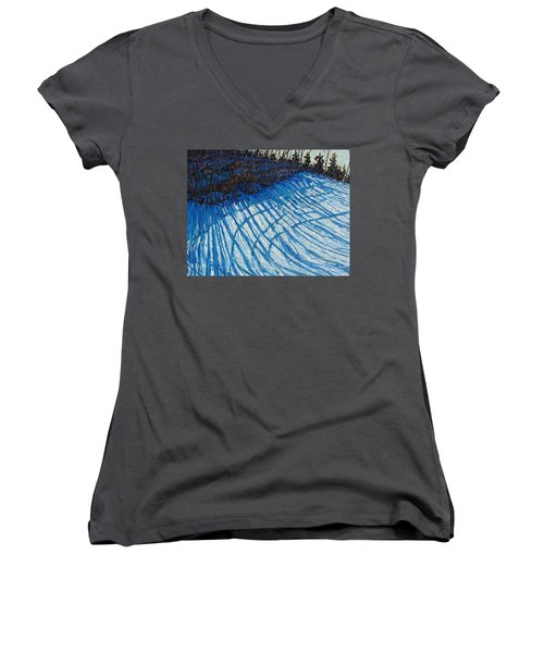 Sun Of Winter Shadows Women's V-Neck (Athletic Fit)