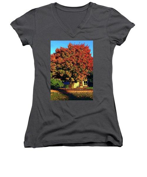 Sun-shining Autumn Women's V-Neck