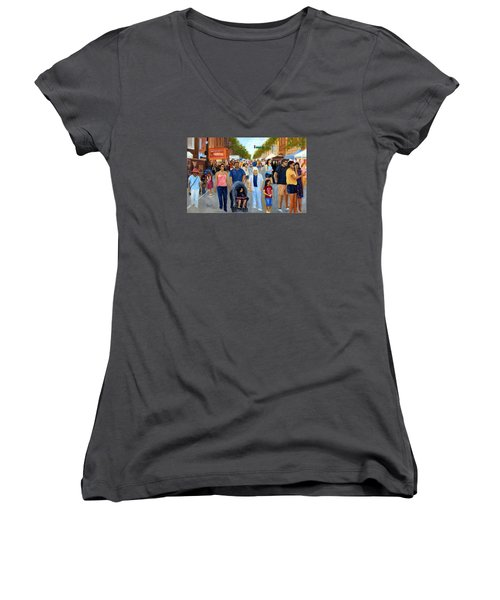 Sunday Fun In Red Bank Women's V-Neck (Athletic Fit)