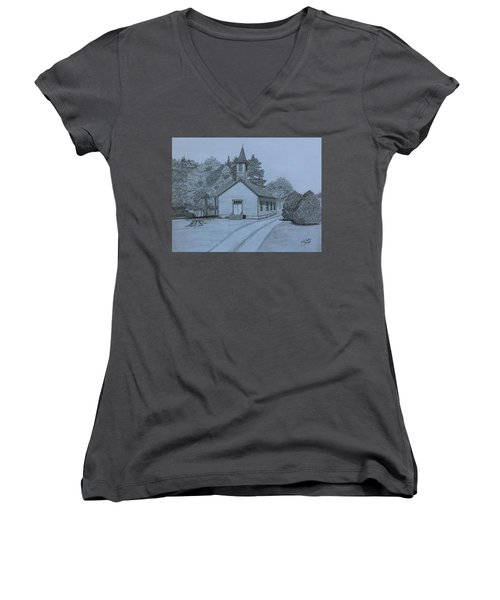 Sunday In Fairview  Women's V-Neck T-Shirt (Junior Cut) by Tony Clark