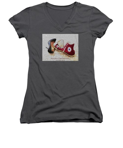 Sunday Morning Women's V-Neck T-Shirt
