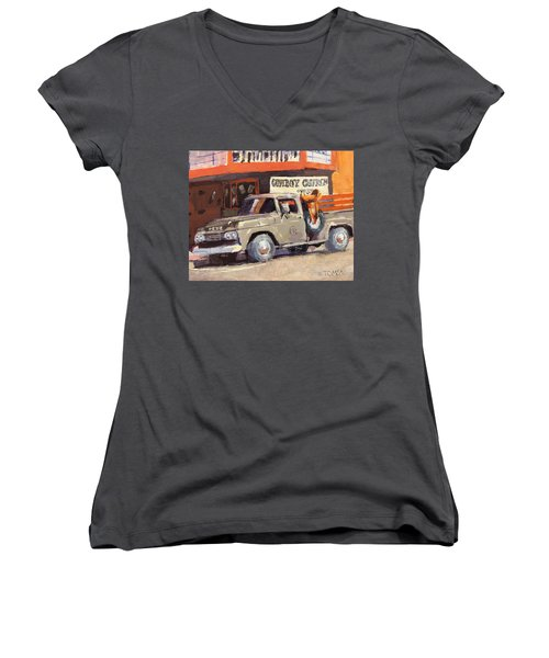 Sunday Morning In Wickenburg Women's V-Neck T-Shirt