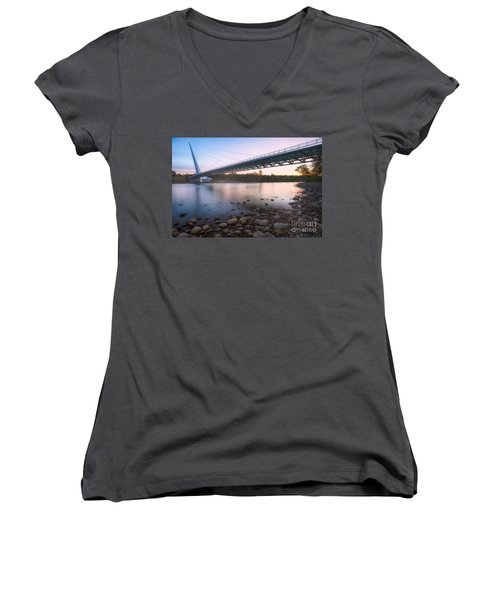 Sundial Bridge 7 Women's V-Neck (Athletic Fit)