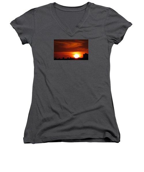 Sundown Women's V-Neck T-Shirt