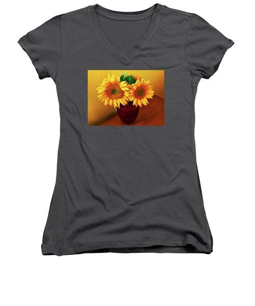 Sunflower Corner Women's V-Neck