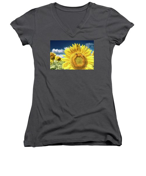 Sunflower Dreams Women's V-Neck (Athletic Fit)