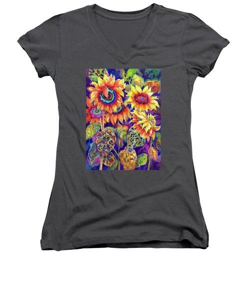 Sunflower Garden I Women's V-Neck
