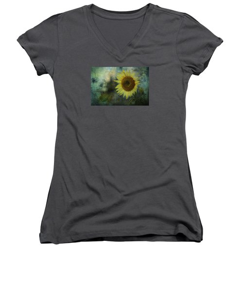 Sunflower Sea Women's V-Neck (Athletic Fit)