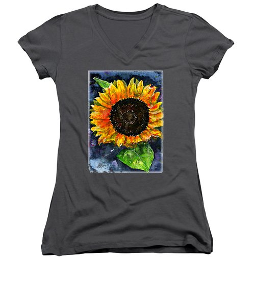 Sunflower Shirt Women's V-Neck (Athletic Fit)
