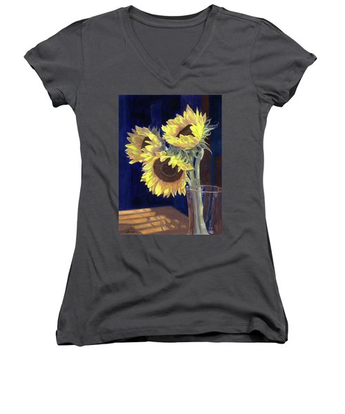 Sunflowers And Light Women's V-Neck