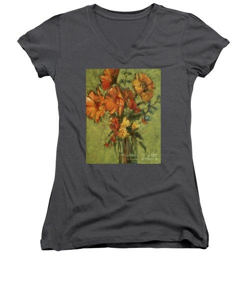 Sunflowers For Sunday Women's V-Neck