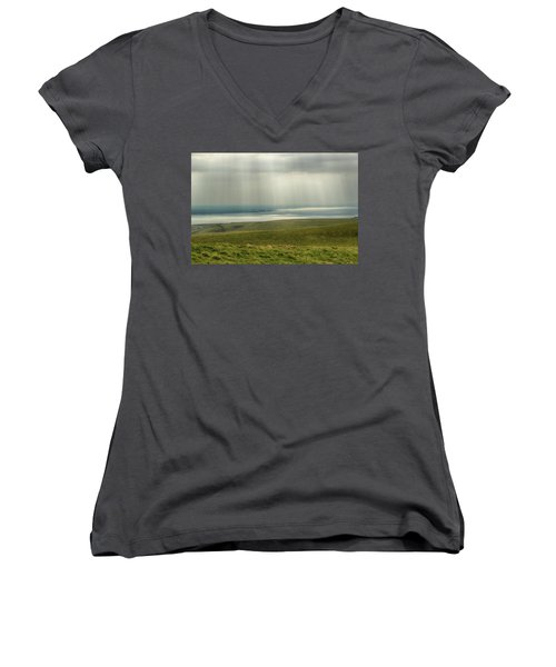 Sunlight On The Irish Coast Women's V-Neck