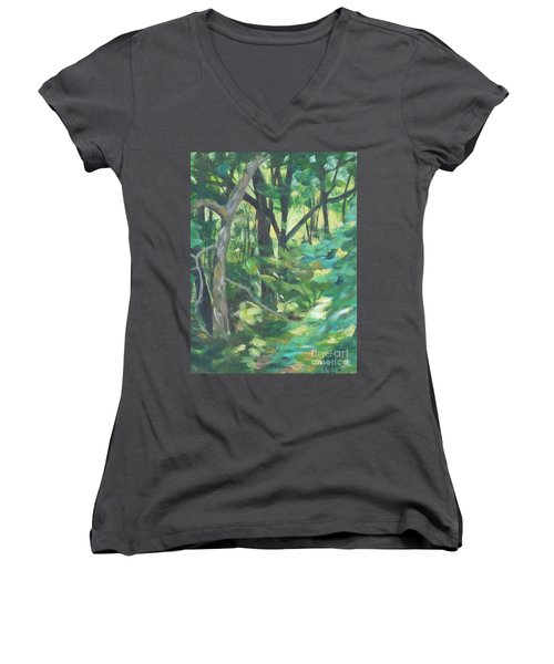 Sunlit Backyard Women's V-Neck