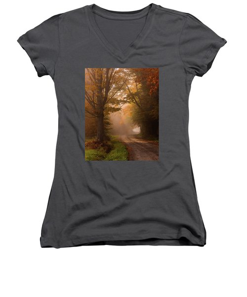Serenity Of Fall Women's V-Neck