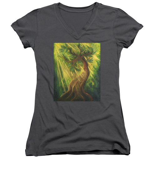 Sunlit Tree Women's V-Neck