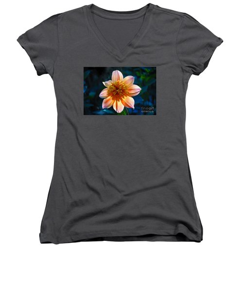 Sunlite Dahlia  Women's V-Neck T-Shirt