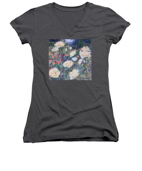 Sunny Day At The Rose Garden Women's V-Neck T-Shirt