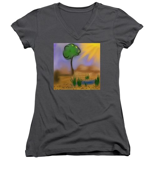 Sunny Day Women's V-Neck T-Shirt (Junior Cut) by Dan Twyman