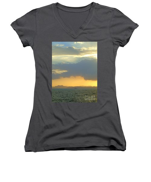 Sunrise After The Typhoon Women's V-Neck