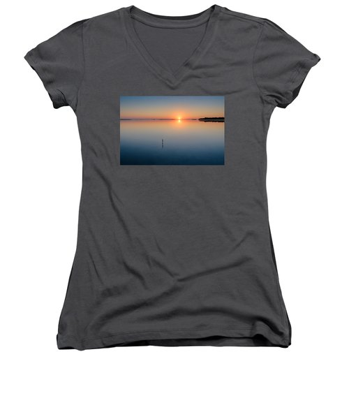 Sunrise Along The Pinellas Byway Women's V-Neck (Athletic Fit)