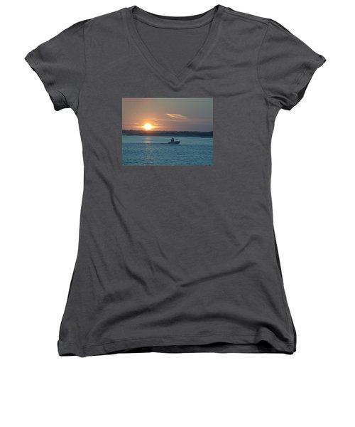 Sunrise Bassing Women's V-Neck T-Shirt (Junior Cut) by  Newwwman