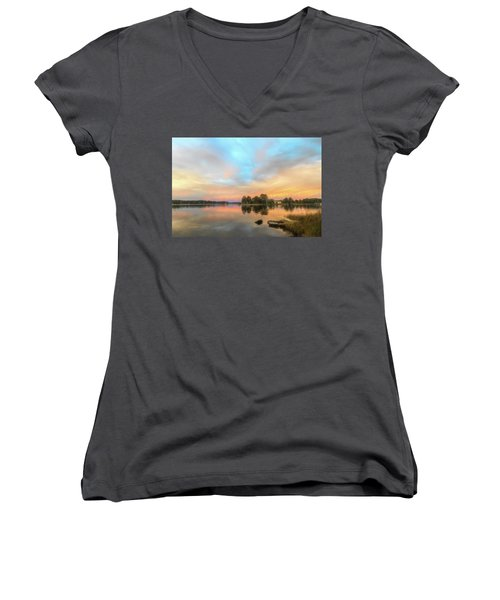 Sunrise, From The West Women's V-Neck (Athletic Fit)