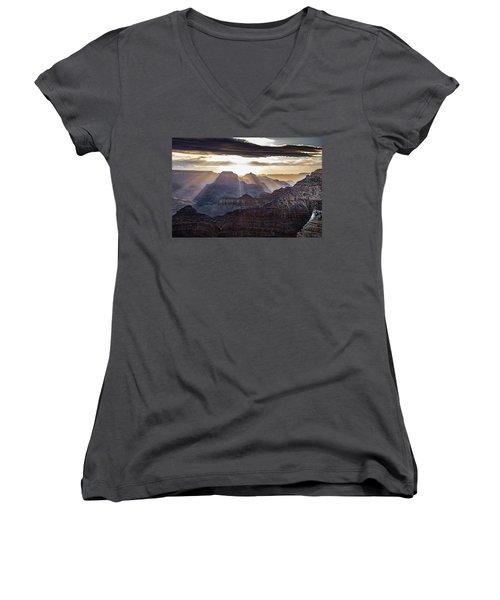 Sunrise Grand Canyon Women's V-Neck (Athletic Fit)