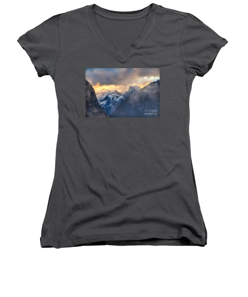 Sunrise Half Dome Women's V-Neck (Athletic Fit)