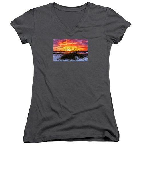 Sunrise Hilton Head Beach Women's V-Neck T-Shirt