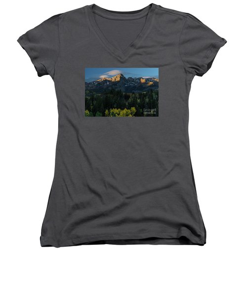 Sunrise In Colorado - 8689 Women's V-Neck T-Shirt