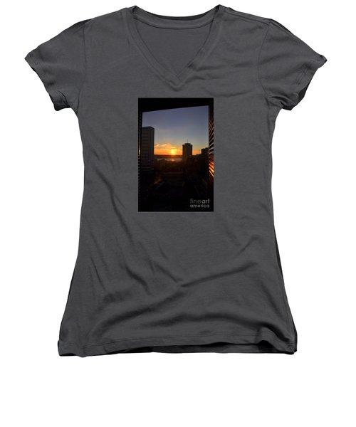 Sunrise In New Orleans Women's V-Neck T-Shirt