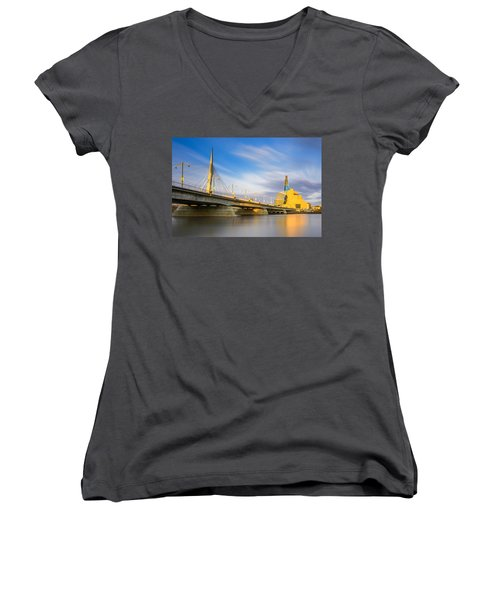 Sunrise In Winnipeg Women's V-Neck T-Shirt