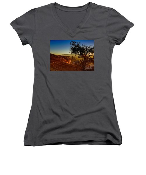Sunrise Inspiration Women's V-Neck T-Shirt (Junior Cut) by Kristal Kraft