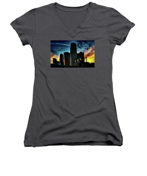 Sunrise L A Women's V-Neck T-Shirt